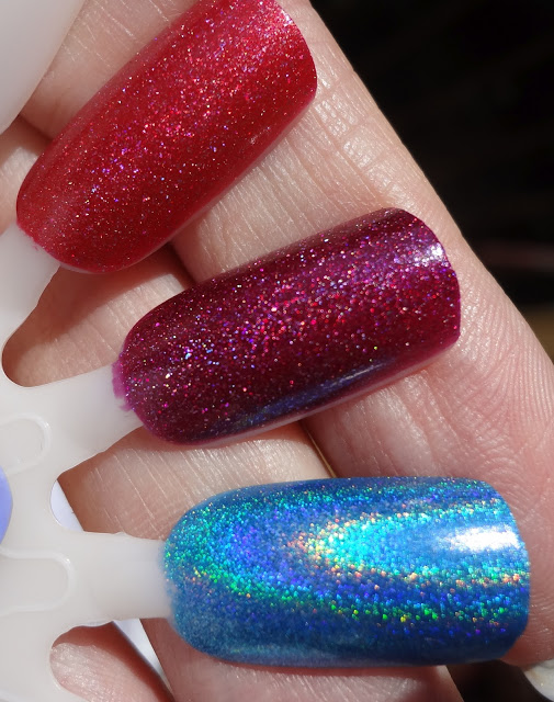 Opi Ds Reflection, Opi Ds Extravagance, Layla Ocean Rush
