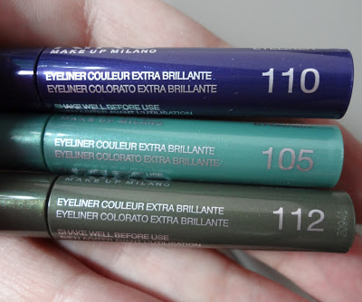 Swatch Nuovi Eyeliner Kiko Active Colours