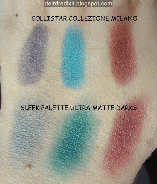 Collistar Milano Collection vs Sleek Ultra mattes darks