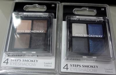 Palette Nude e Palette Blue - 4 steps Smokey Eyeshadows by Miss Broadway