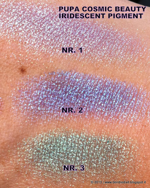 Pupa Iridescent Pigment Swatches - Cosmic Beauty Collection