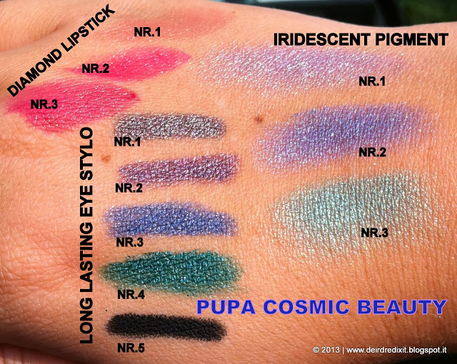 Pupa Cosmic Beauty Collection - Swatches