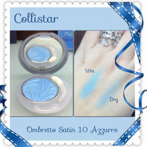 Collistar Ombretto Satin Primer + Colore nr 10 Azzurro