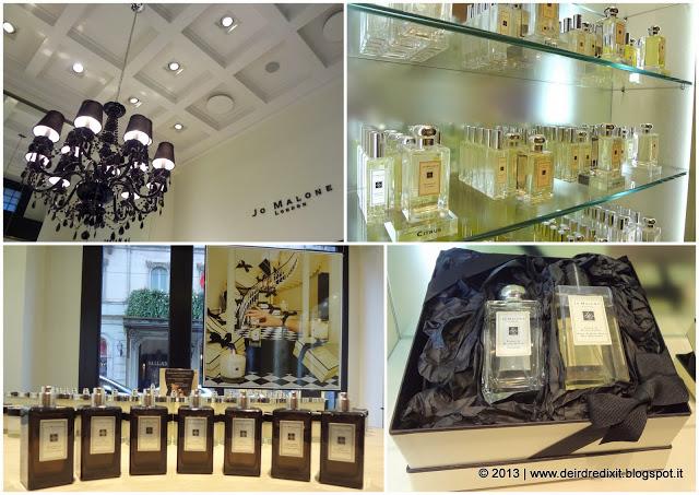 La boutique Jo Malone di via Manzoni - Milano