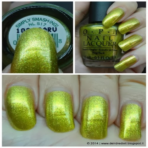 Simply Smash-ing! by Opi with artificial light