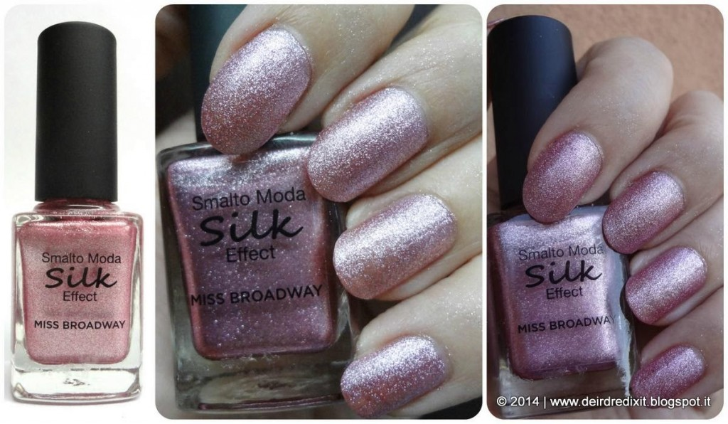 Swatch smalto Rose Silk Effect Miss Broadway