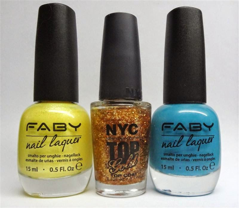 Faby Hi Honey, NYC Top of the Gold, Faby Plastic Jewels and Neon Lights