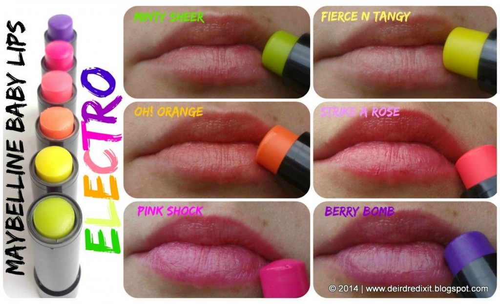 Maybelline Baby Lips Electro swatch