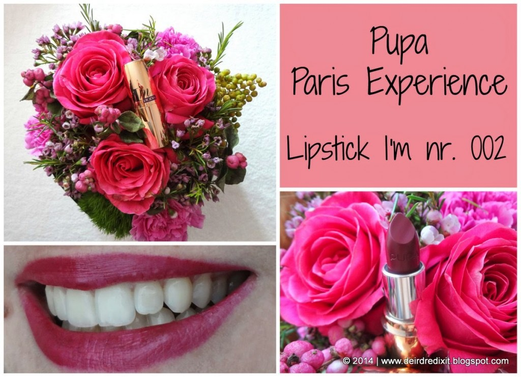 Pupa Paris Experience: Rossetto I'M nr. 002 Berry Violet