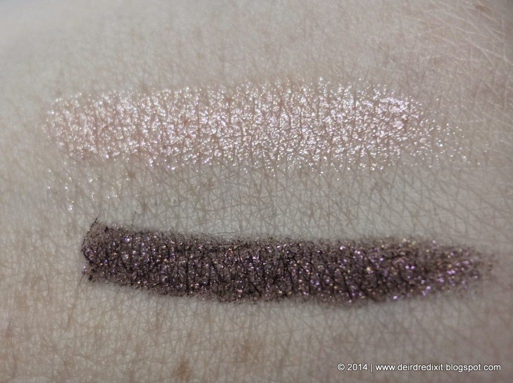 Swatch Kiko Vibe Longlasting Eyeshadow 02 Amethyst and Rose