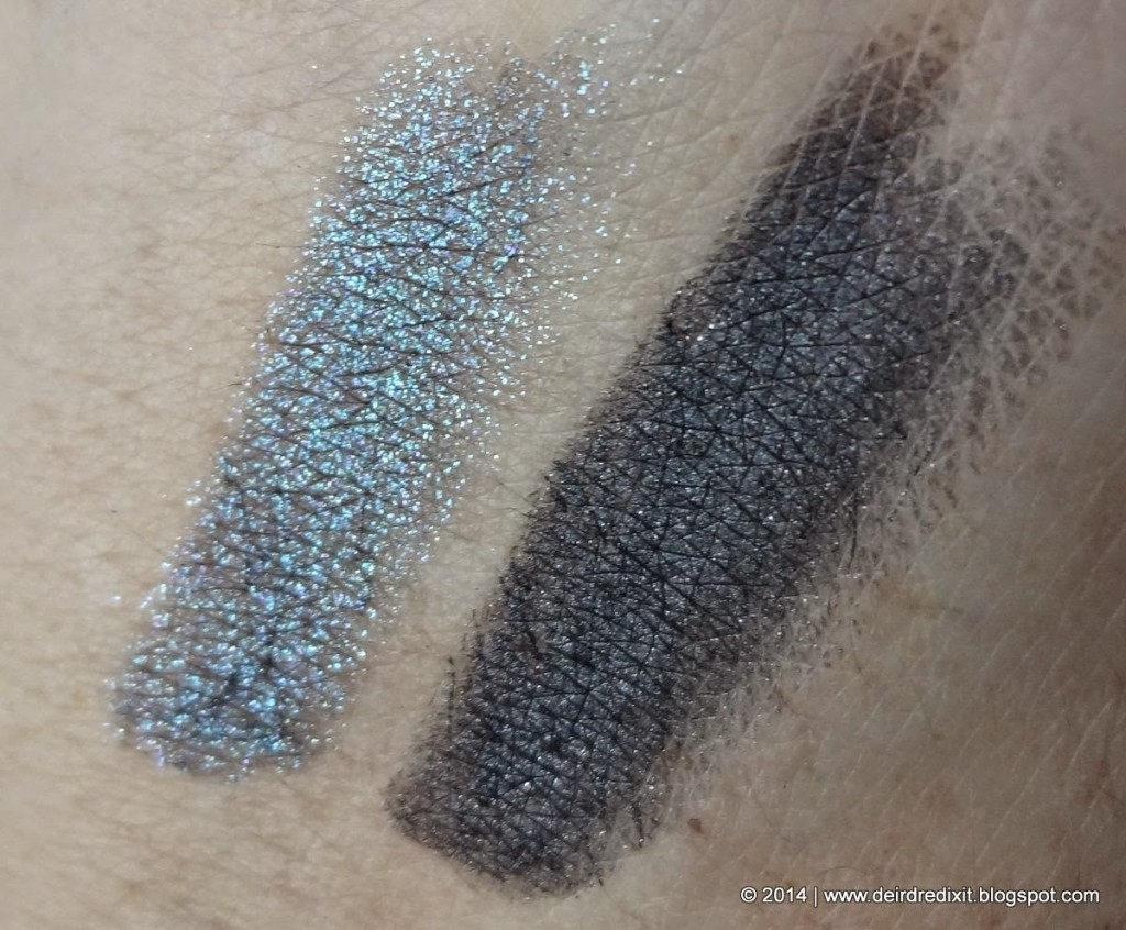 Swatch Kiko Vibe Longlasting Eyeshadow 04 Anthracite and Teal