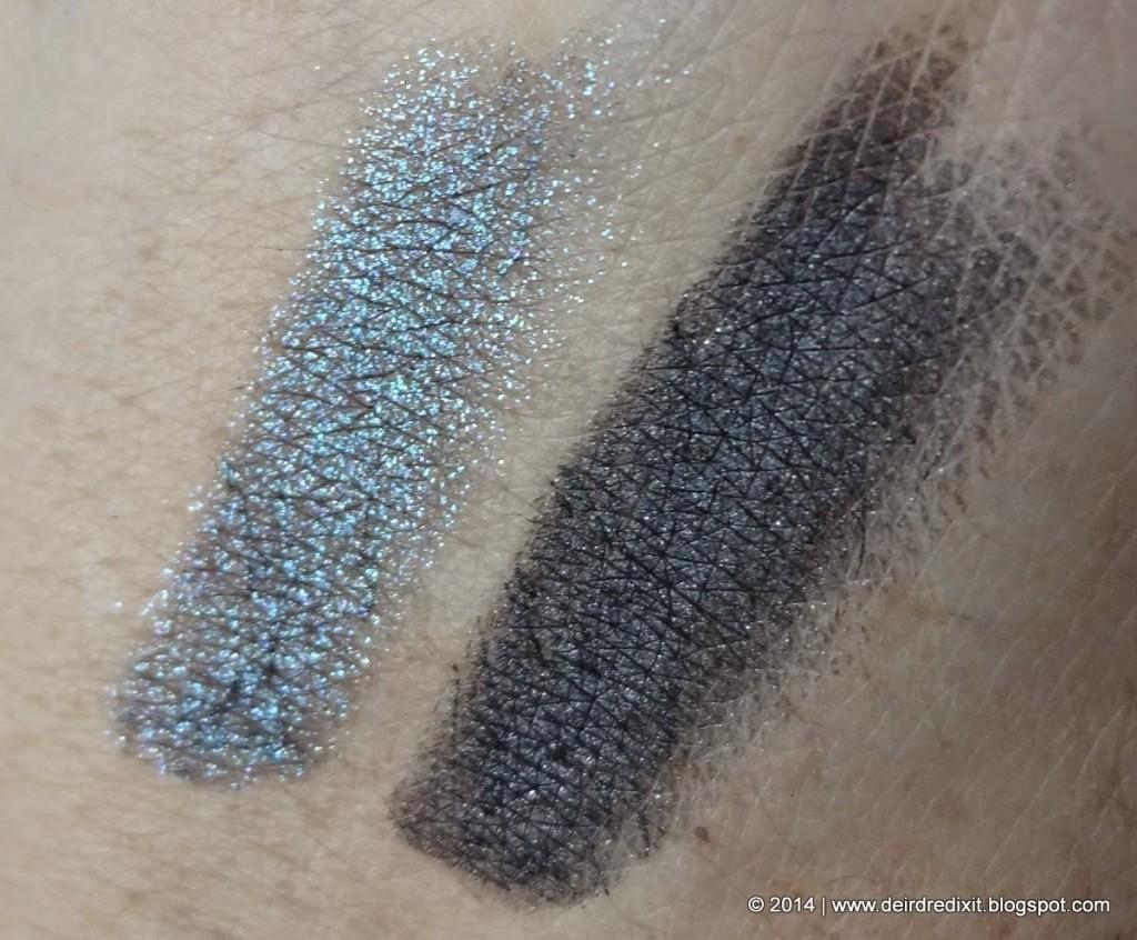 Swatch Kiko Vibe Longlasting Eyeshadow 04 Anthracite and Teal