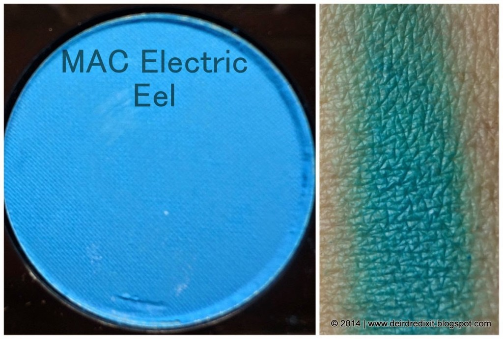 Swatch Mac Electric Eel Eyeshadow