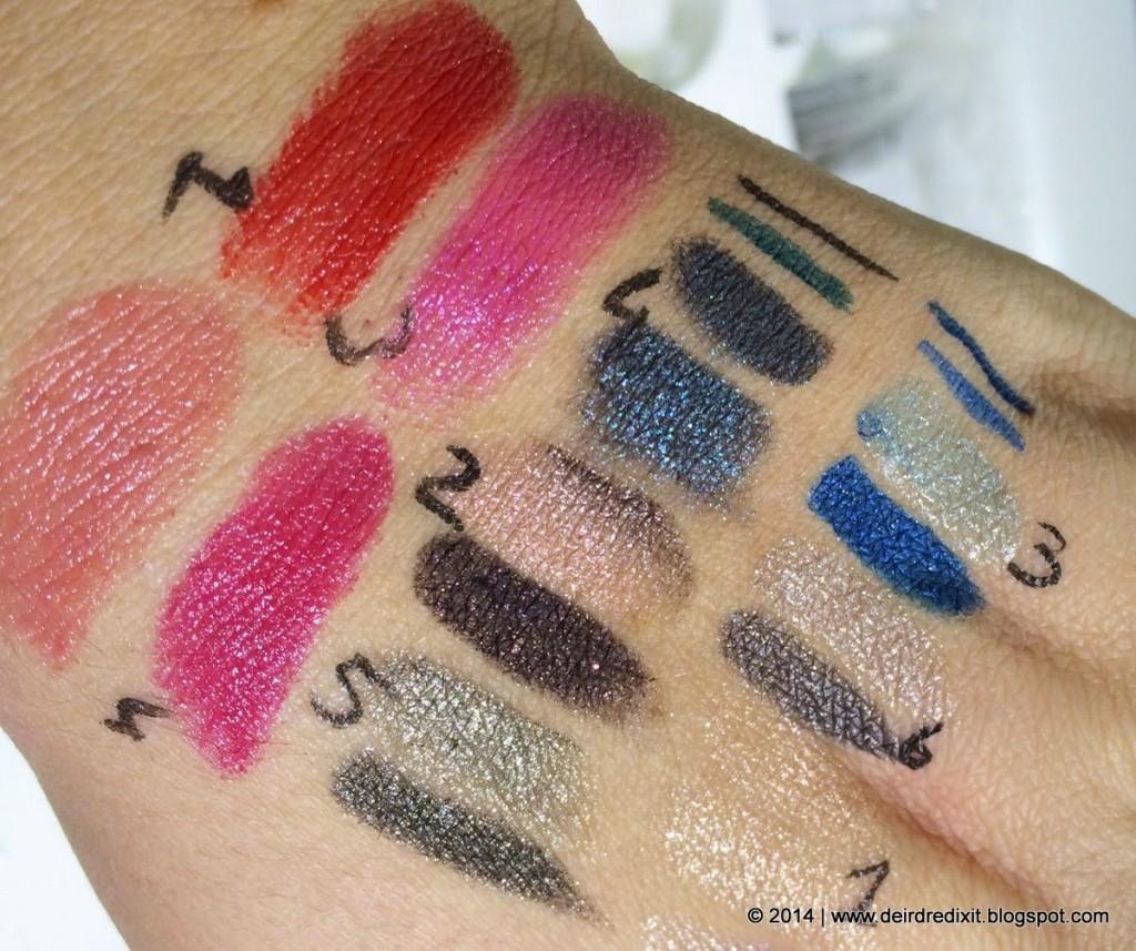 Swatch Kiko Vibe Longlasting Eyeshadow, Ultimate Pen Long Wear Eyeliner e Color Lipstick, Bad Girl? Collection