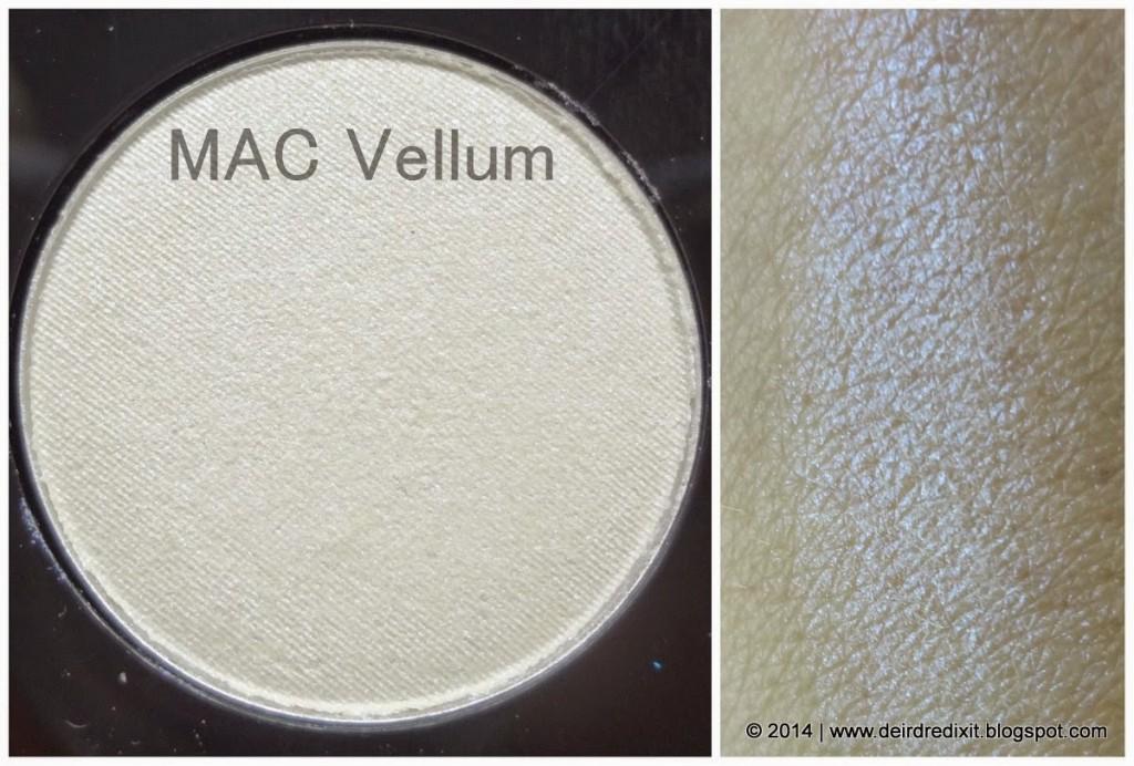 Swatch Mac Vellum Eyeshadow