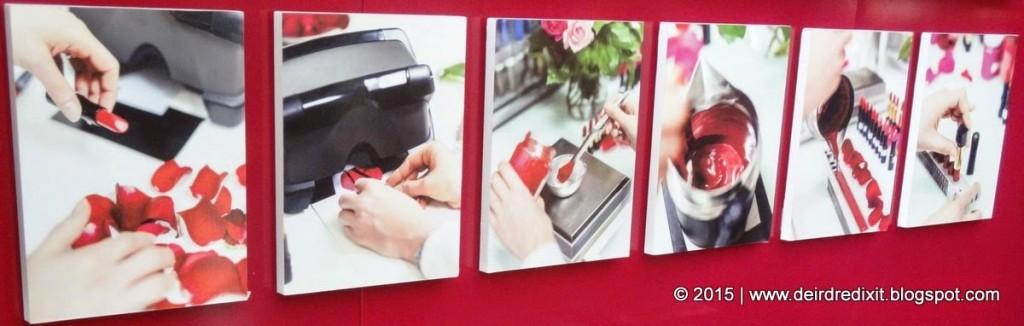 Processo di creazione del colore dei rossetti Lancôme L' Absolu Rouge, le 5 Rose Mitiche