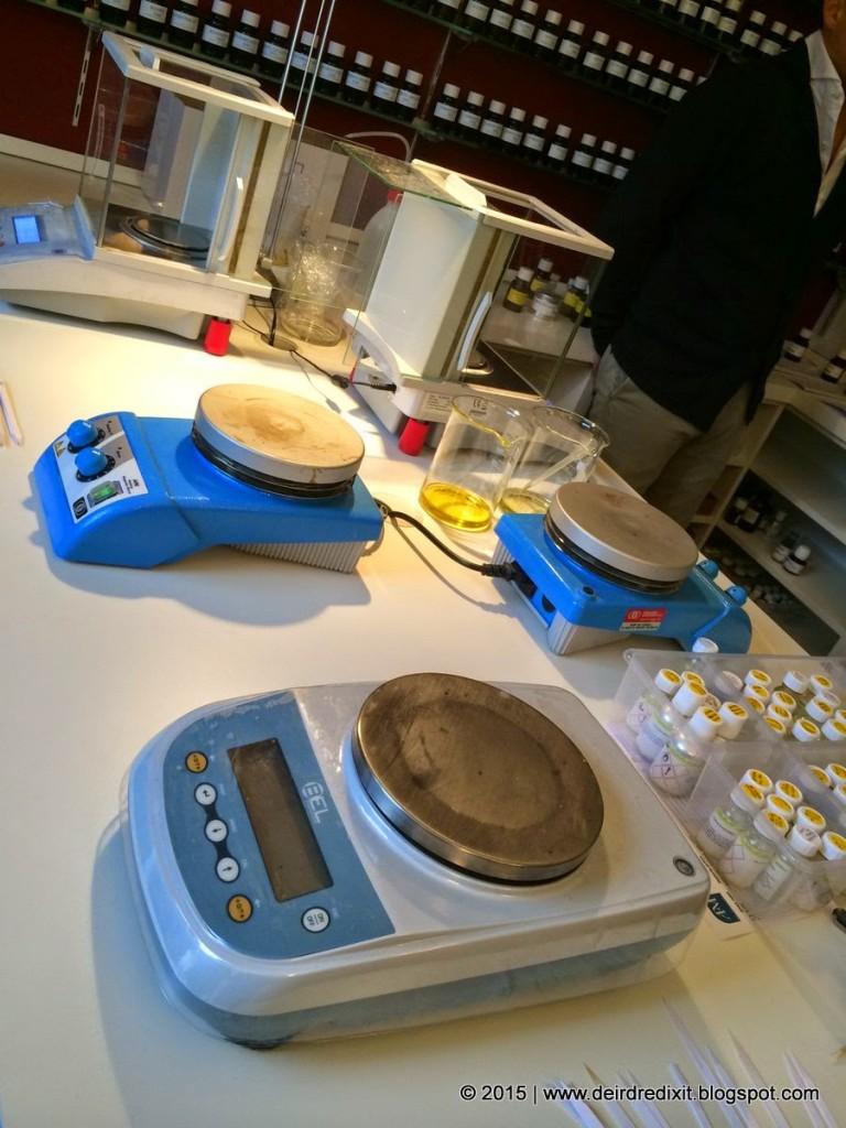 Laboratorio di Atelier Fragranze Milano