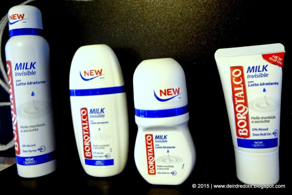 Nuova linea deodoranti Borotalco Milk
