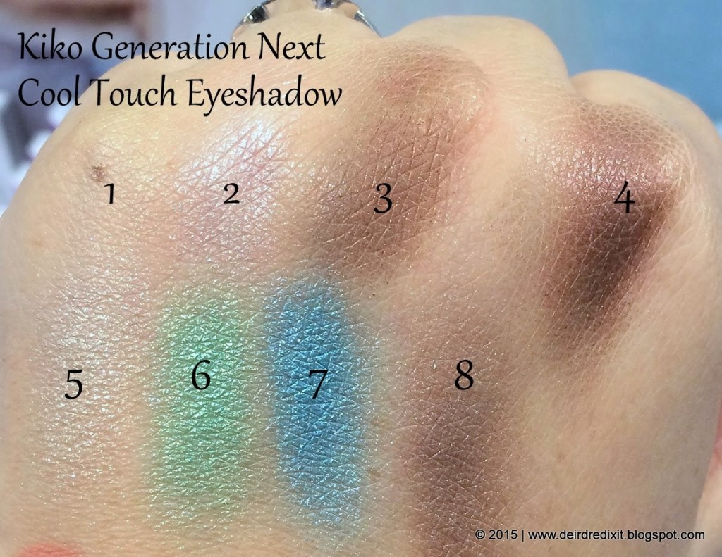Swatch Kiko Generation Next Cool Touch Eyeshadow