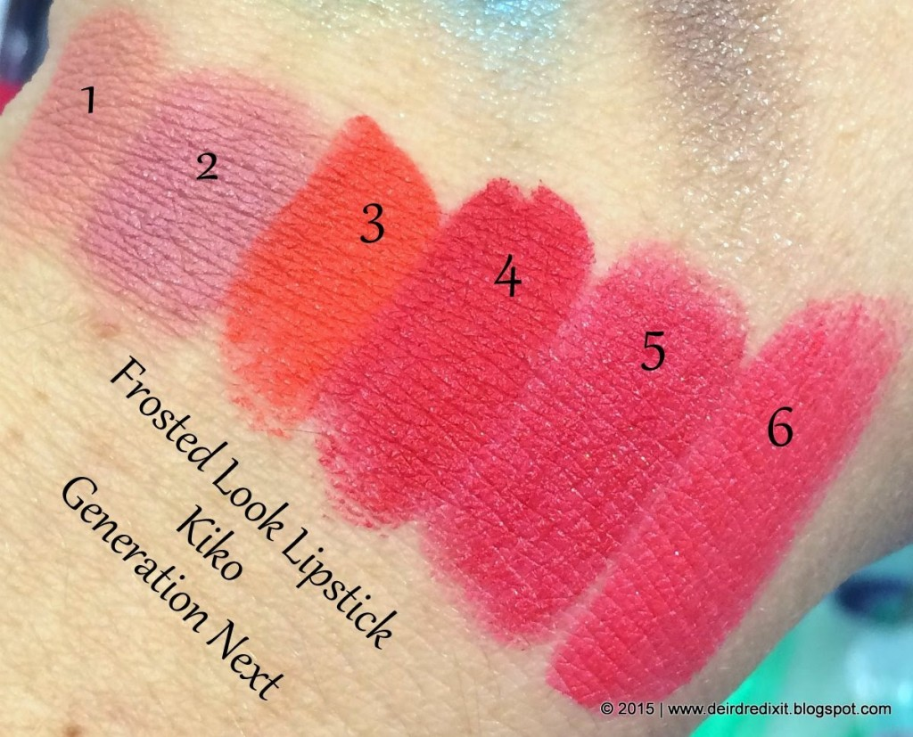 Swatch Kiko Generation Next Frosted Look Lipstick
