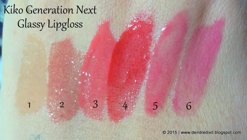 Swatch Kiko Generation Next Glassy Lipgloss