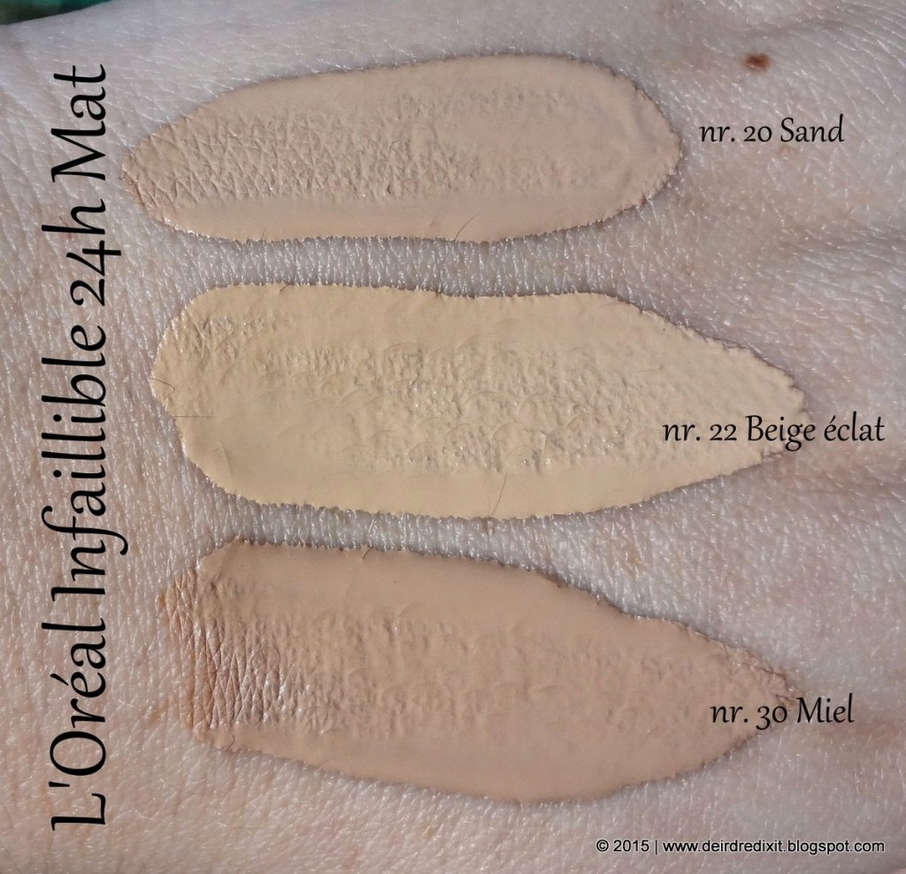 L'Oréal Infaillible 24h Mat Swatches