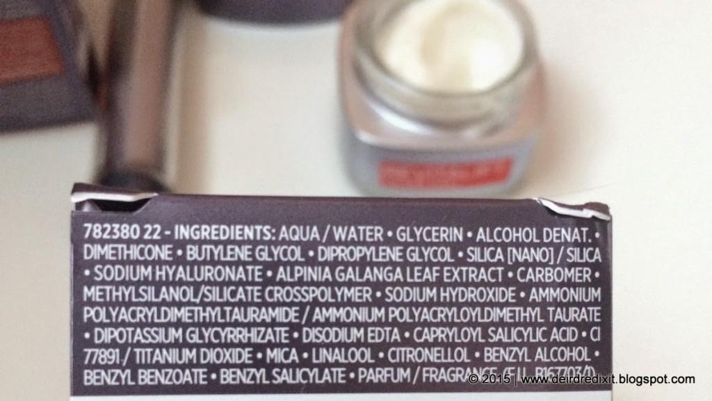 INCI L'Oréal Revitalift Filler [HA]