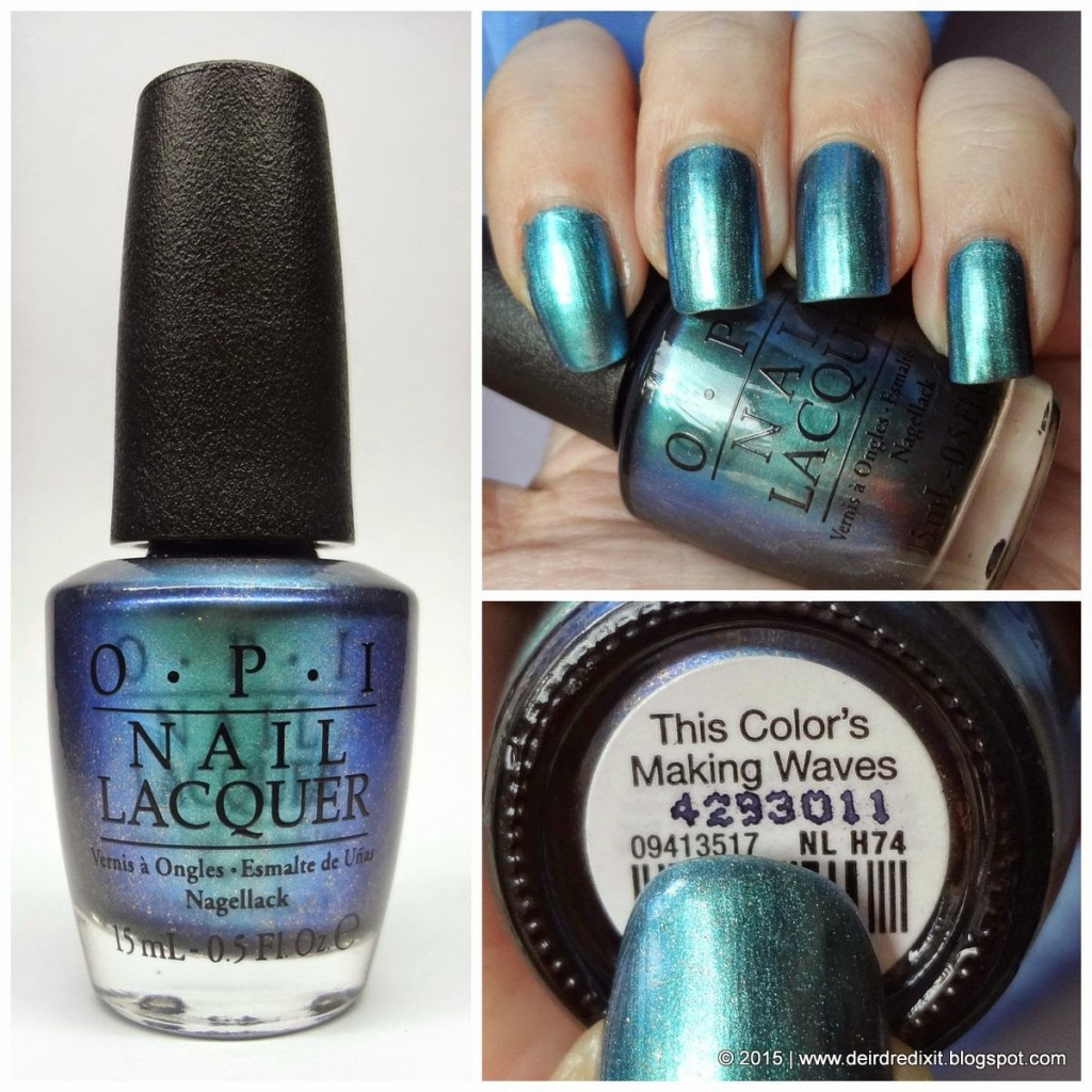 Opi Hawaii Collection swatch This Color's Making Waves