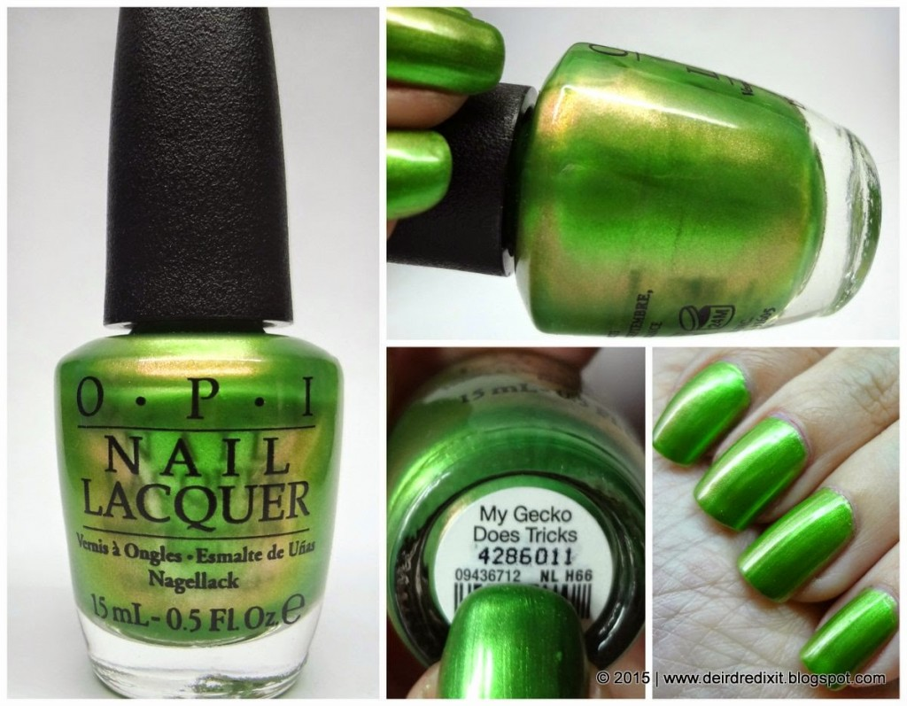 Opi Hawaii Collection swatch My Gecko Does Tricks