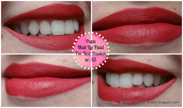 Pupa I'M Matt Lip Fluid nr. 52 Red Passion