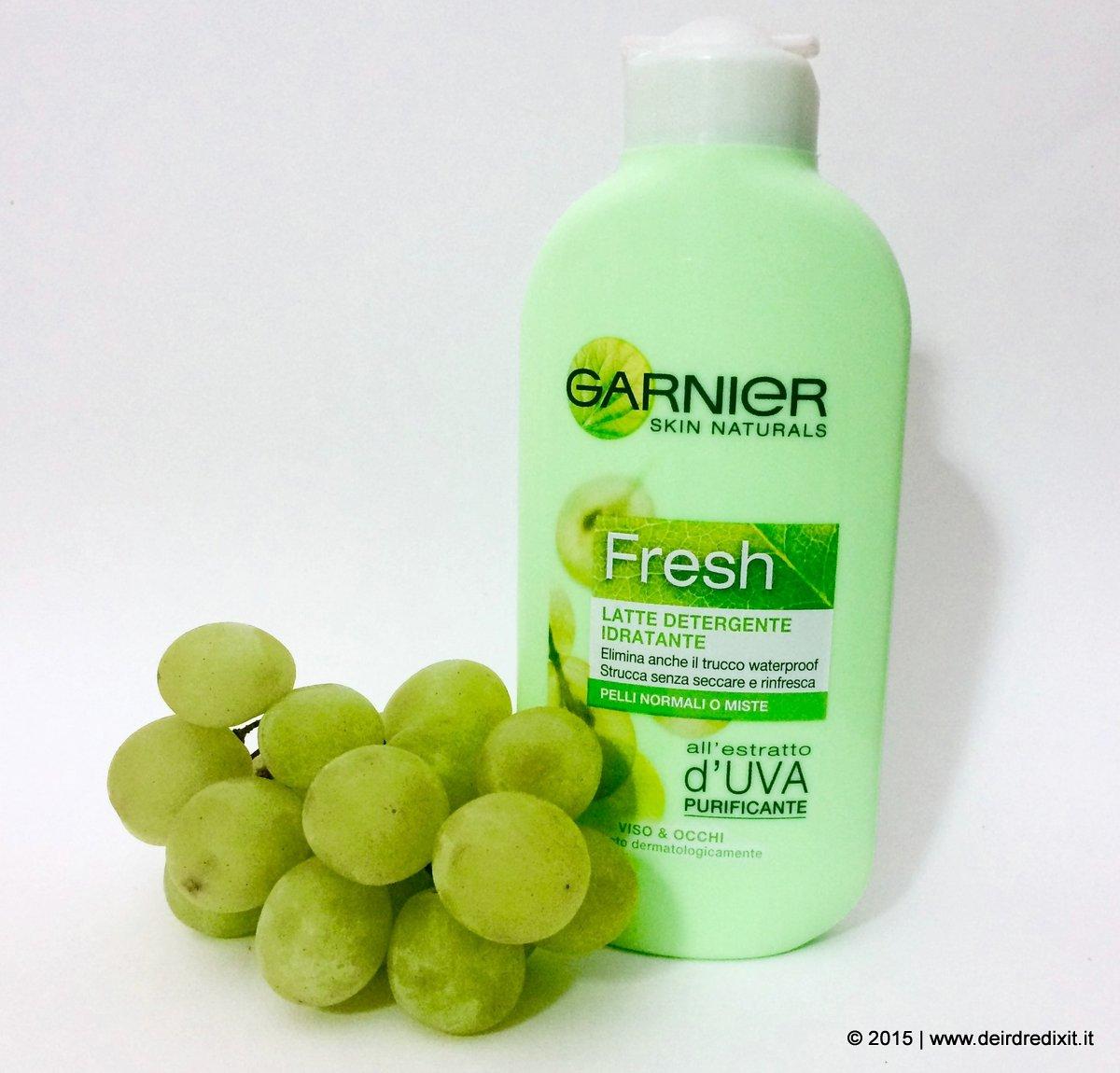latte detergente all'uva garnier