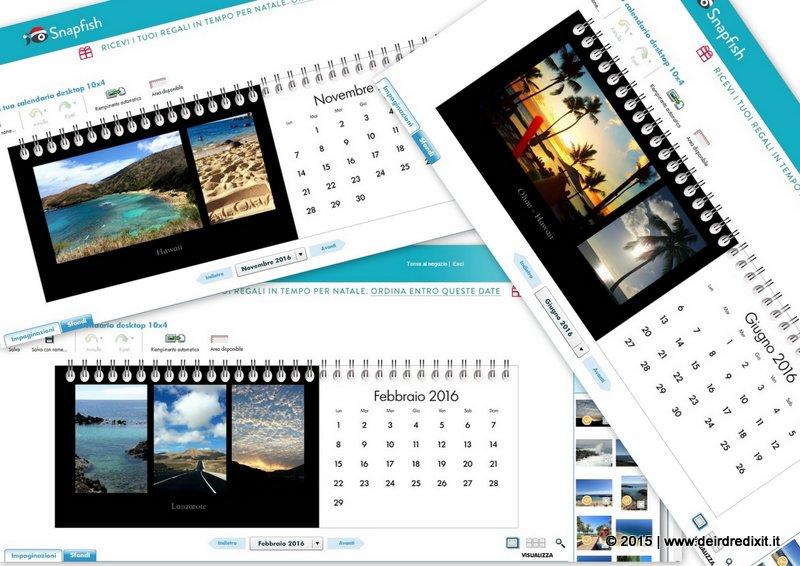 Calendario fotografico Snapfish