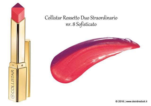Rossetto Duo Straordinario Collistar nr 8 Sofisticato
