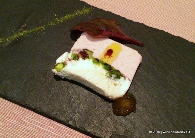 Sadler Terrina di mousse di mortadella, ricotta, pistacchio e confettura