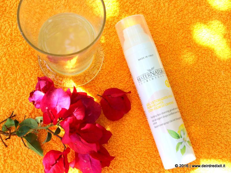 Gel Detergente Viso Purificante ai fiori di limone Maternatura