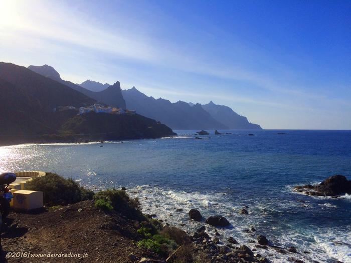 Tenerife - scogliera a nord, zona Taganana