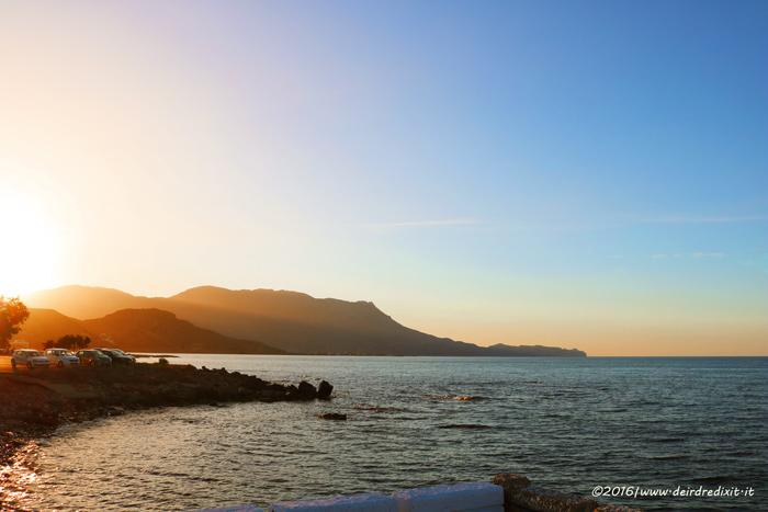 Creta - tramonto a Kissamos, lungomare