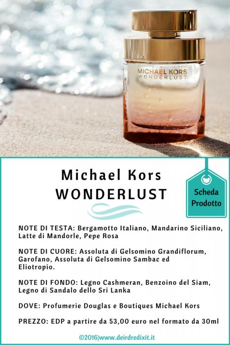 Michael Kors Wanderlust scheda prodotto