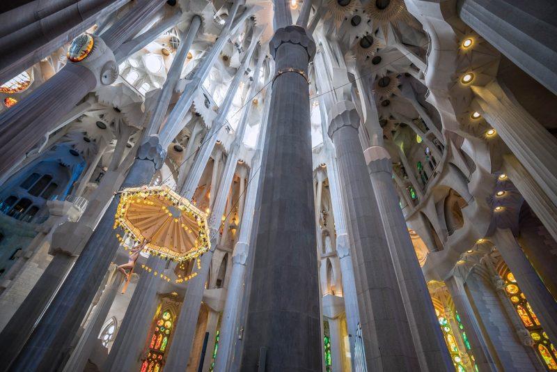 Barcellona, interno della Sagrada Familia