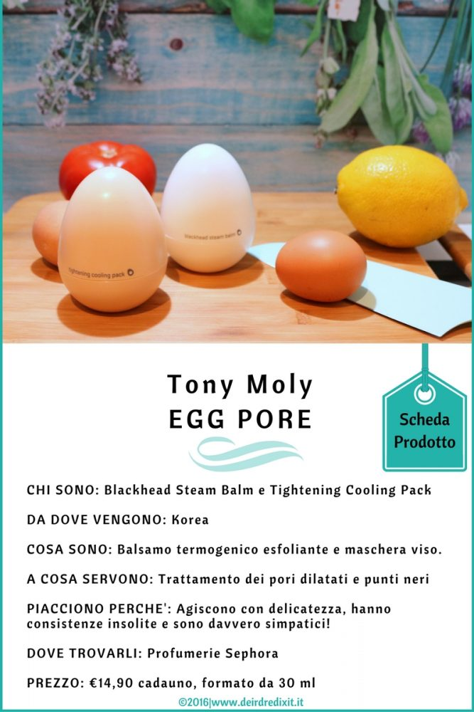 Tony Moly Egg Pore Scheda prodotti