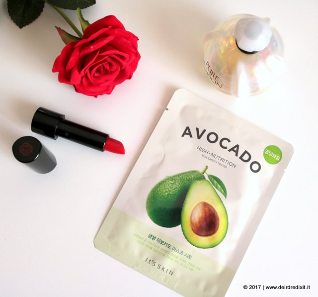 cosmesi coreana It's Skin The Fresh Mask Sheet avocado