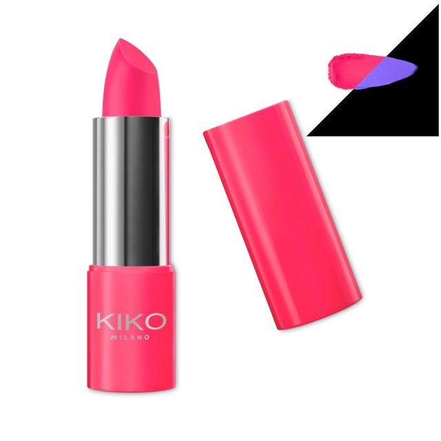 Kiko Active Fluo Lipstick 01 Stronger Coral
