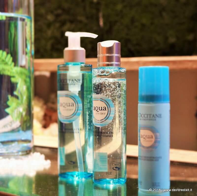 Occitane Aqua Reotier Detergente, Essence e Bruma Idratante