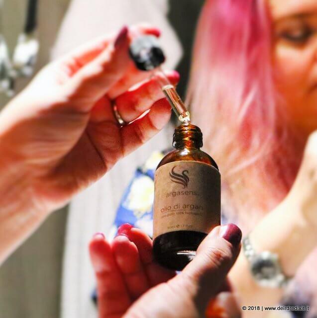 dettaglio olio di argan argasens