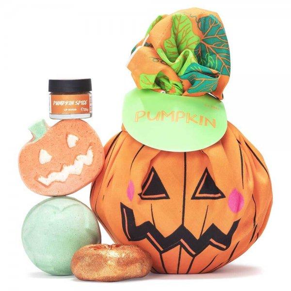 lush-halloween pumpkin wrap